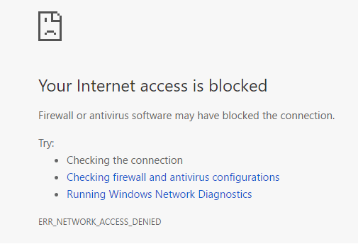 how to block internet access to a program in Windows