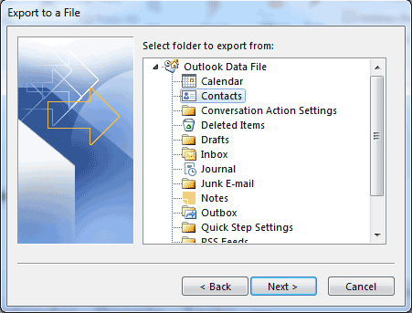select-folder-to-export-outlook