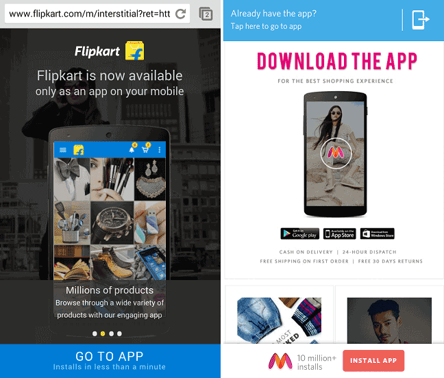 flipkart-myntra-shut-mobile-websites