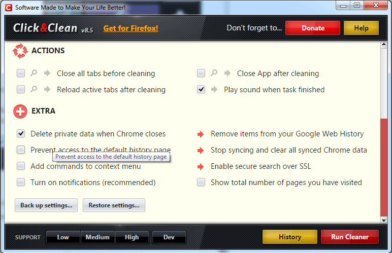 click-and-clean-options