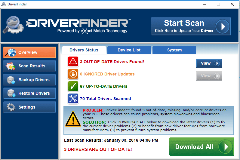 driverfinder windows software