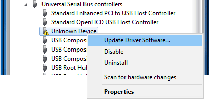 update-device-software-unknown-device