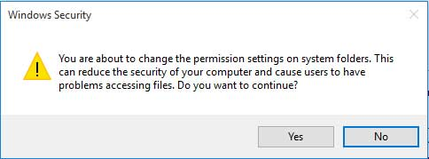 windows security warning pop up message