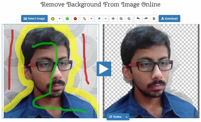 background of image remover online