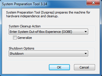 system preparation tool for windows