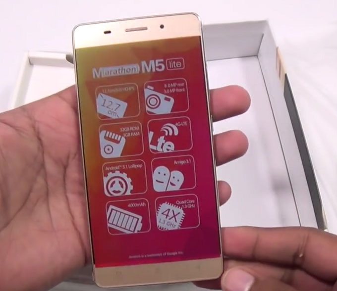 Uncovered Gionee M5 Lite