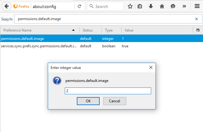 turn off image loading in Firefox