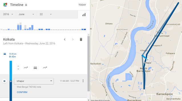 Google Maps Location History or Timeline
