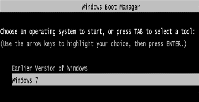 How to Remove Earlier Version of Windows from Boot Menu