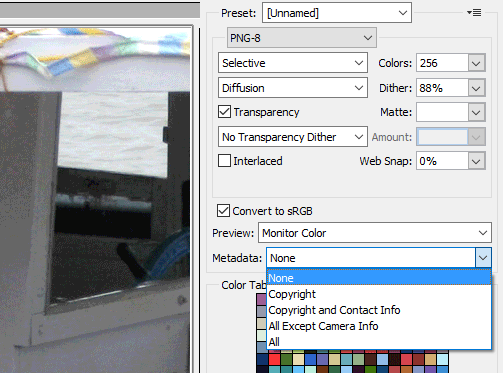 use photoshop to delete EXIF data from image