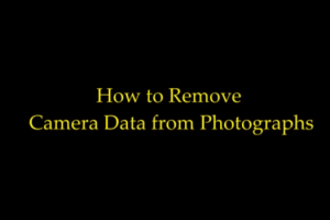 remove camera gps data from photographs
