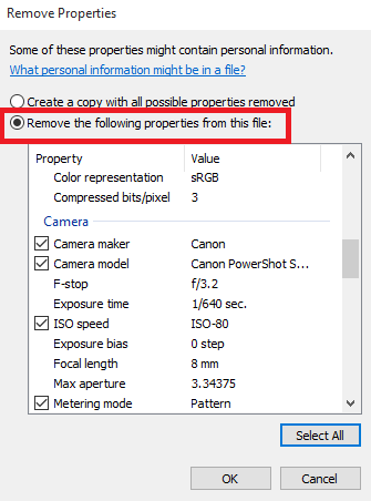 remove photo metadata using Windows