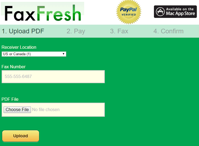 pay and send fax with FaxFree