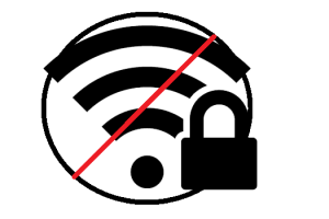 secure wi-fi network but no internet
