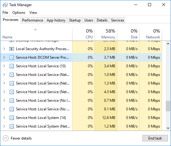 Abnormally high CPU usage from svchost.exe [SOLVED]