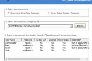 reset or bypass login password of Windows 10 with PCUnlocker software